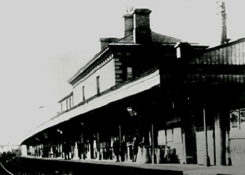 View of the original Chichester Train Station c.1900
