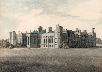 Print of Cowdray House (from the engraving by James Basire), 1796