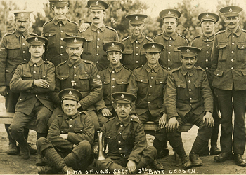 Royal Sussex Regiment No. 5 section, 3rd Battalion. Circa 1914 – 1919
