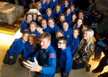 Tim Peake with Westbourne Primary School