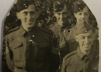 Four WW2 soldiers in uniform