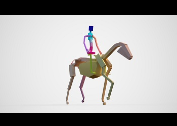 Thumbnail image of Rigged Horse and Warrior