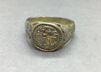 Thumbnail image of Group 7 - Silver-gilt ring - CHCDM:2010.43.1