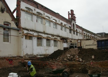 Demolition of the factory Displays a larger version of this image in a new browser window