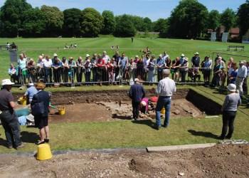 Roman excavations in Priory Park