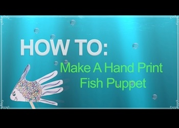 Hand Print Fish Puppets